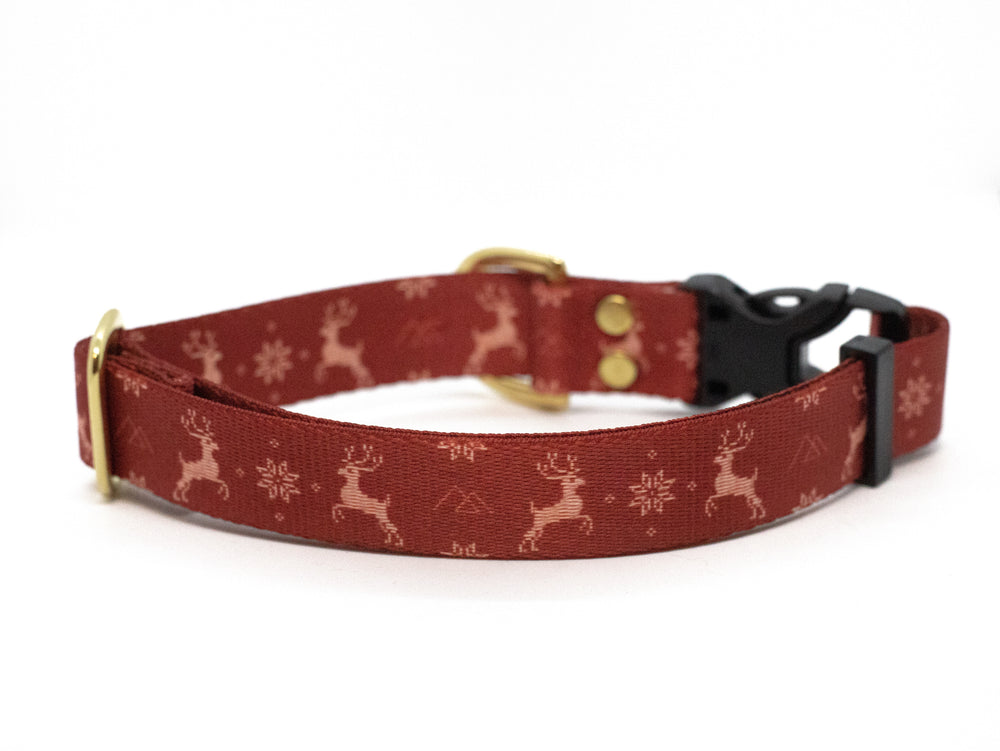 Elements Series - Red Ugly Sweater Dog Collar