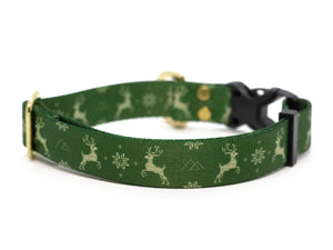 Elements Series - Green Ugly Sweater Dog Collar