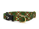 Elements Series - Green and Red Plaid Dog Collar