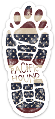 Patriotic Paw Print Sticker