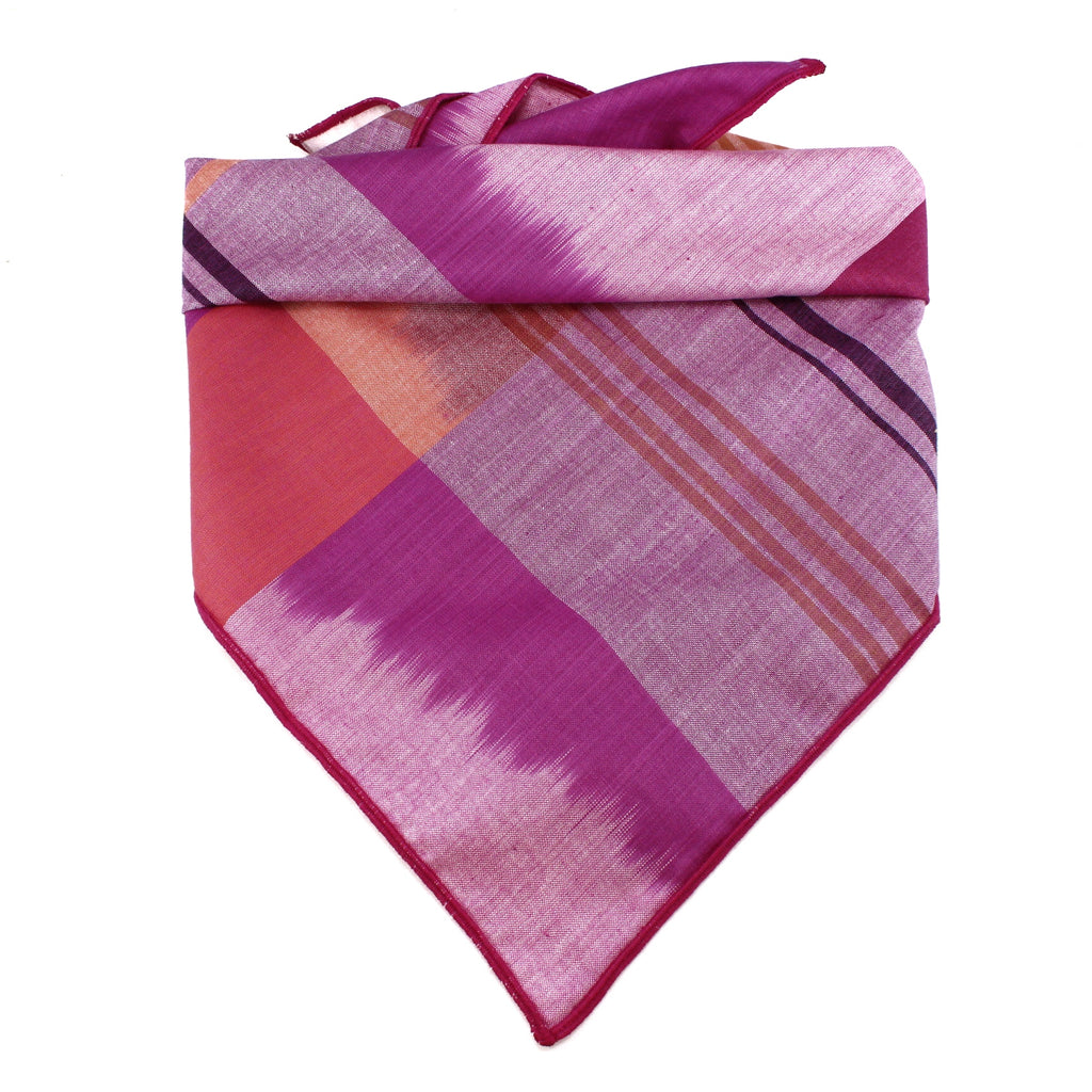 Pink Plaid Dog Bandana by Pacific Hound