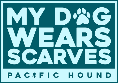 My Dog Wears Scarves Sticker