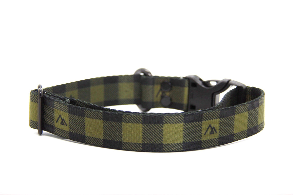 Elements Series - Olive Buffalo Dog Collar