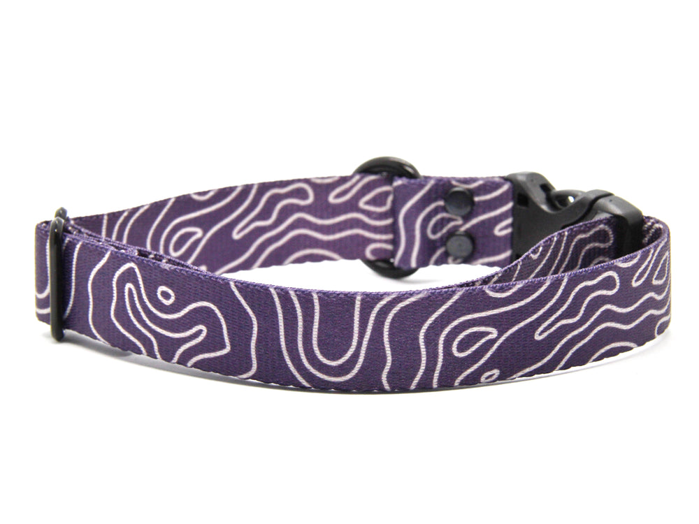 Elements Series - Purple Topo Dog Collar