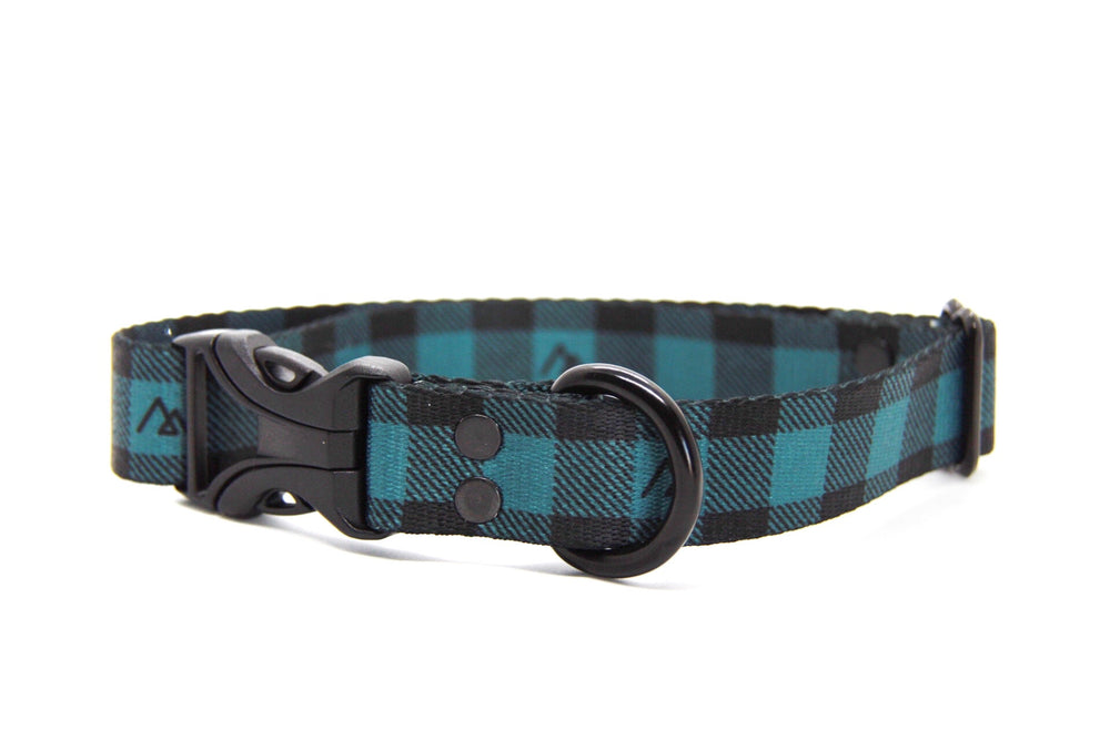 Elements Series - Teal Buffalo Dog Collar