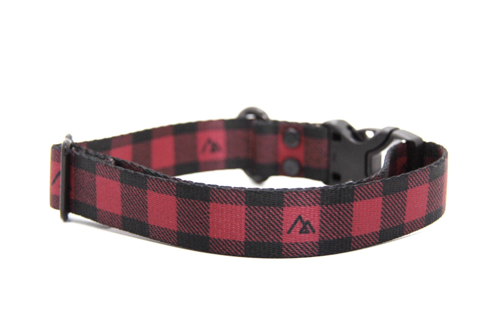 Elements Series - Red Buffalo Dog Collar