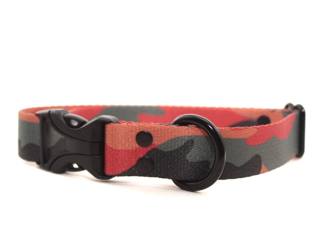 Elements Series - Orange & Grey Camo Dog Collar