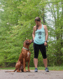 mint hiking boot and paw print tank