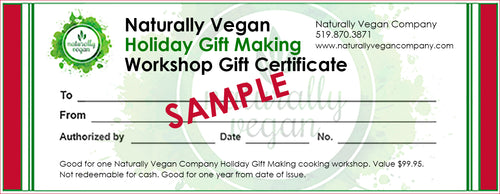 Holiday Gift Making Workshop Gift Certificate
