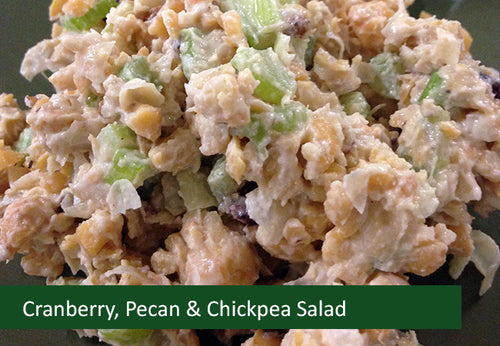 Naturally Vegan Salads - Cranberry, Pecan, Chickpea Salad