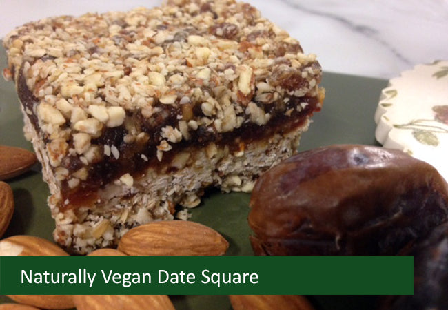 Naturally Vegan Sweets - Date Square