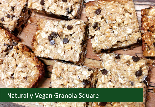 Naturally Vegan Sweets - Granola Square
