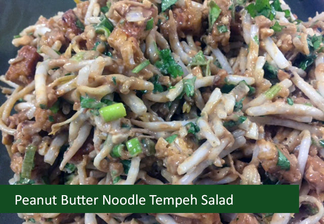 Naturally Vegan Salads - Peanut Butter Tempeh Noodle Salad