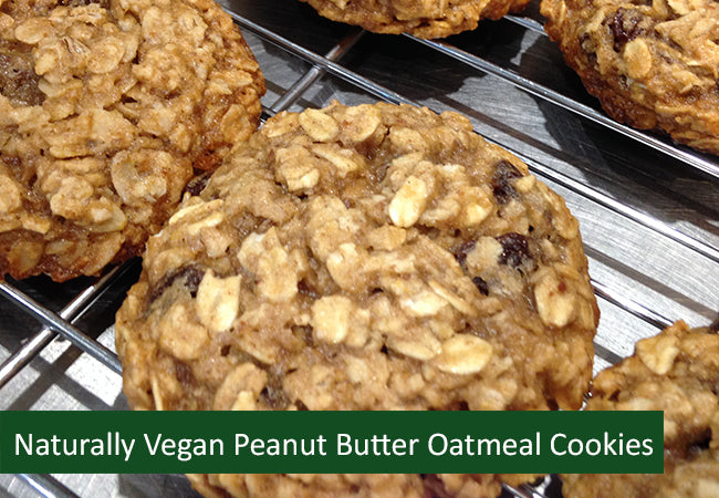 Naturally Vegan Sweets - Peanut Butter Oatmeal Cookies - Dozen (Save $2.01)