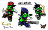 Gangsta Turtles Team: Full Vinyl Sticker Strip