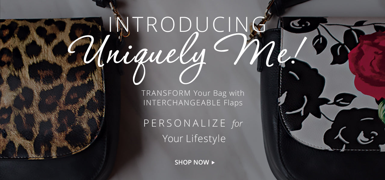 handbags with interchangeable flaps