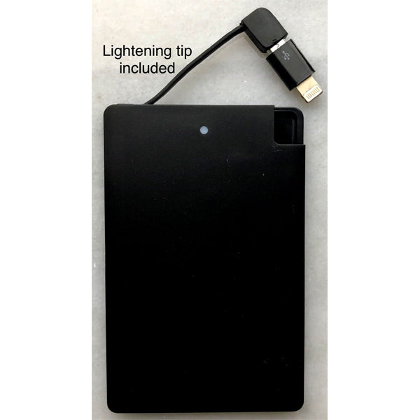 Portable Charger - Solid Black