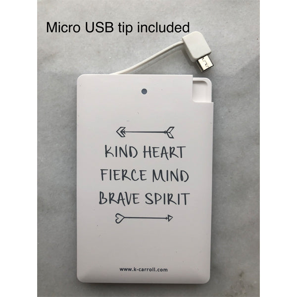 "Portable Charger ""Kind Heart"""