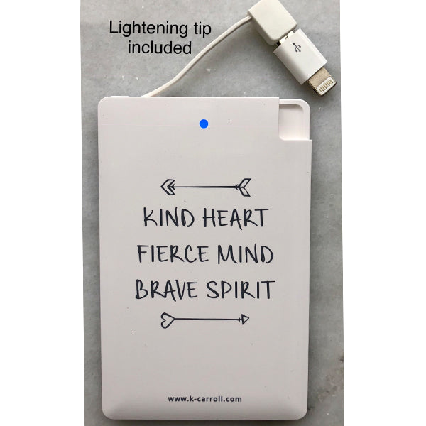 "Portable Charger - ""Kind Heart"""