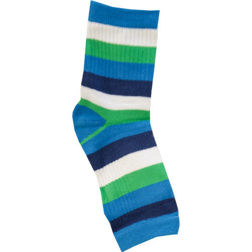 No Toz Toeless Socks (Blue Stripe)