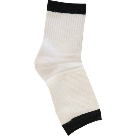 No Toz Toeless Socks - White/Black