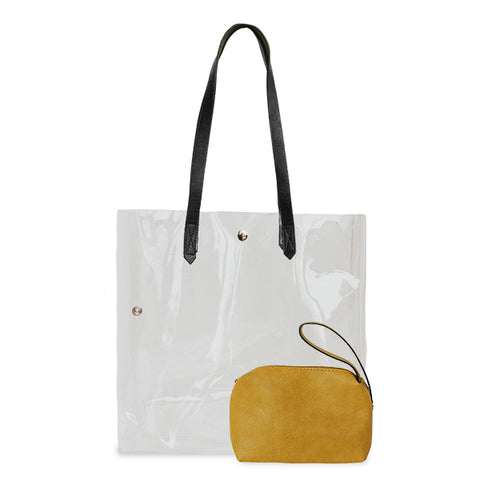 K. Carroll Accessories Black Gold Clear Tote