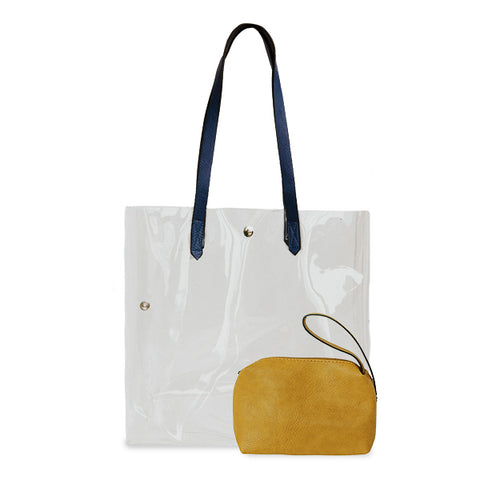 K. Carroll Accessories Navy Gold Clear Tote