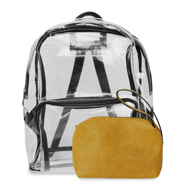 K. Carroll Accessories Black Gold Clear Backpack