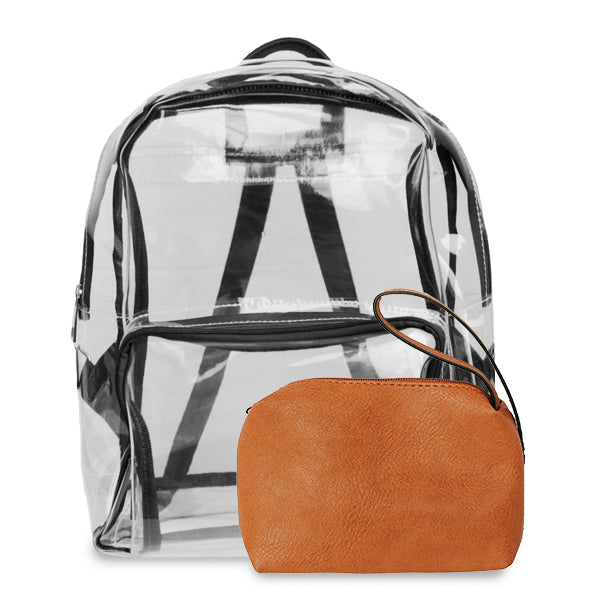 K. Carroll Accessories Black Orange Clear Backpack