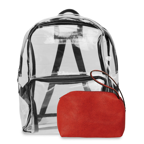 K. Carroll Accessories Black Red Clear Backpack