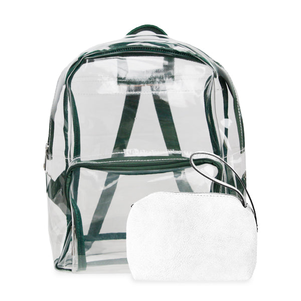 K. Carroll Accessories Green White Clear Backpack