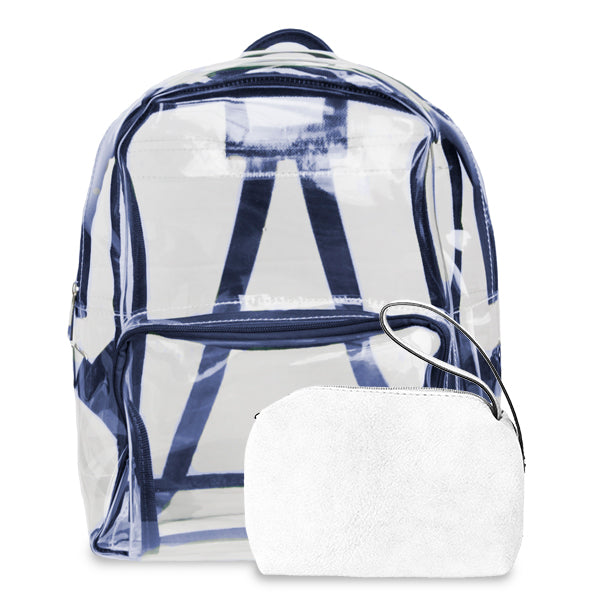 K. Carroll Accessories Navy White Clear Backpack