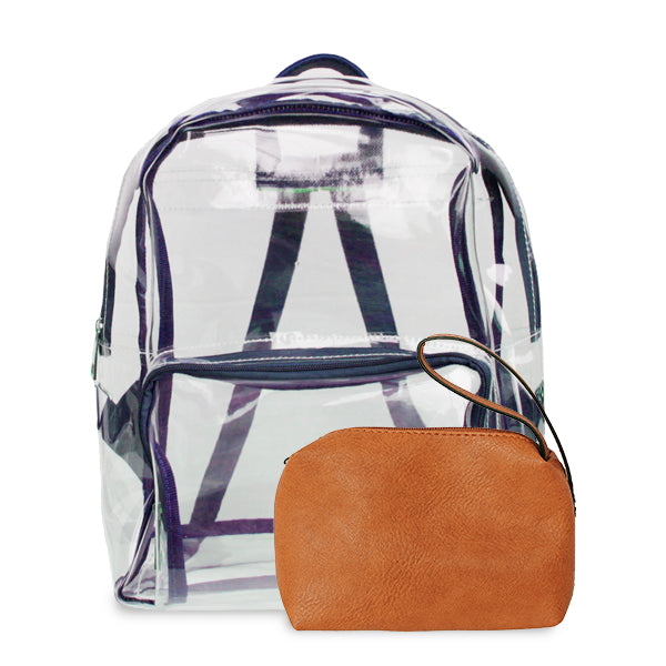 K. Carroll Accessories Purple Orange Clear Backpack