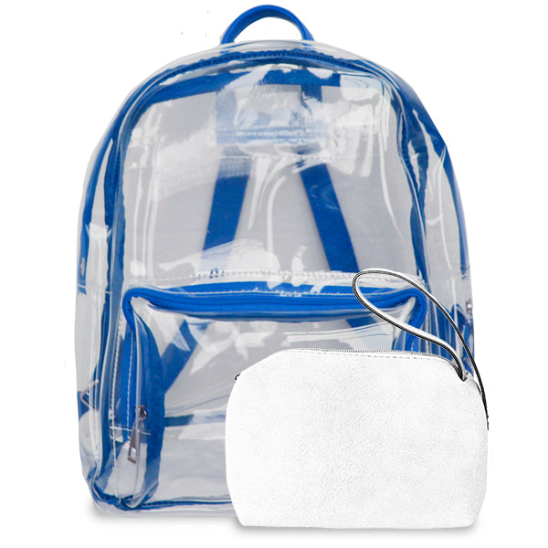 K. Carroll Accessories Royal Blue White Clear Backpack