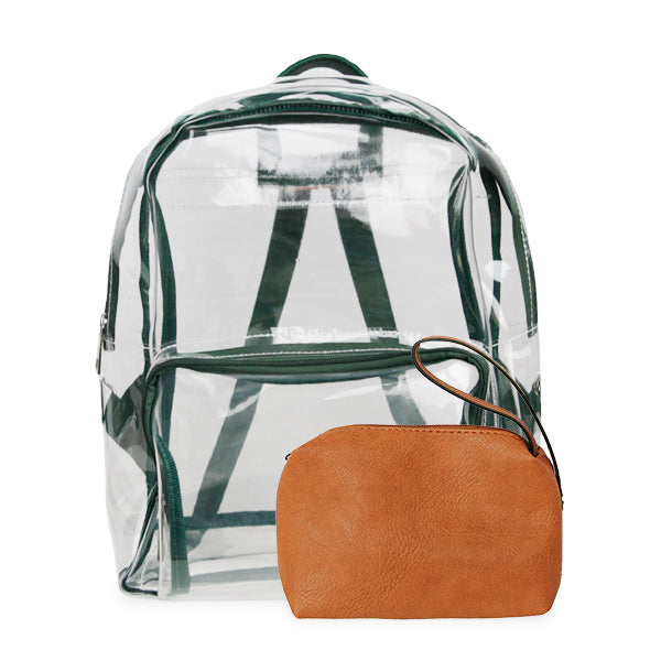 K. Carroll Accessories Green Orange Clear Backpack