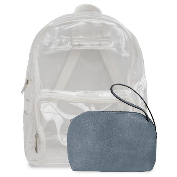 K. Carroll Accessories White Light Blue Clear Backpack