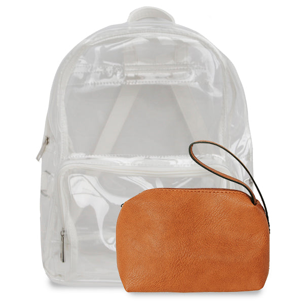 K. Carroll Accessories Orange White Clear Backpack