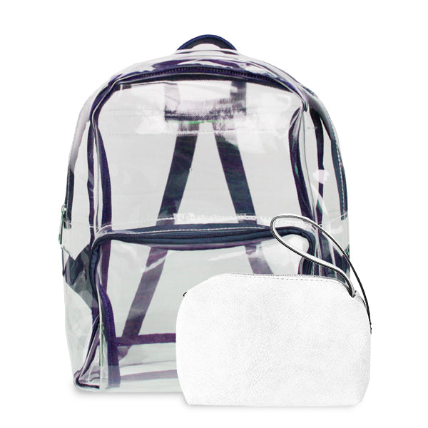 K. Carroll Accessories Purple White Clear Backpack