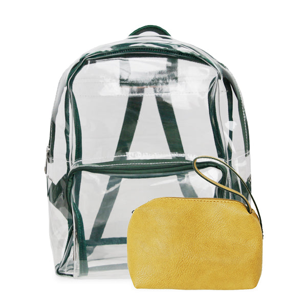 K. Carroll Accessories Green Yellow Clear Backpack
