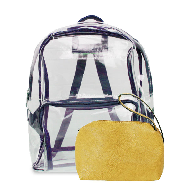 K. Carroll Accessories Purple Yellow Clear Backpack