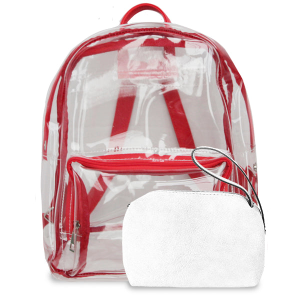 K. Carroll Accessories Red White Clear Backpack