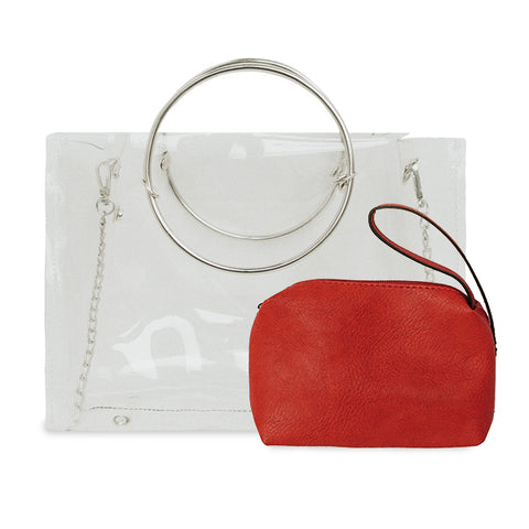 NEW! Clear Ring Handle/Crossbody - 10 Colors