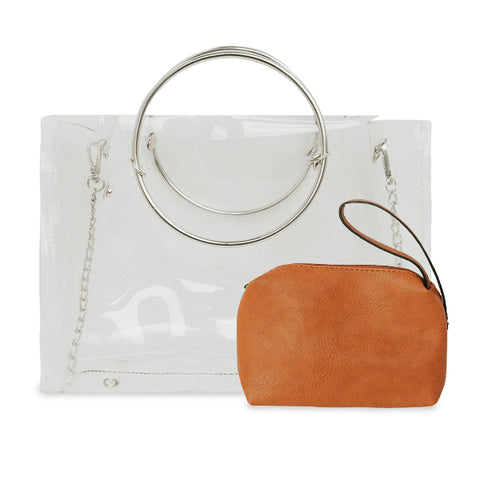 Clear Ring Handle/Crossbody - 10 Colors