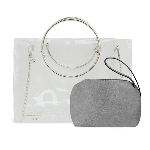Clear Ring Handle/Crossbody (Multiple Colors)