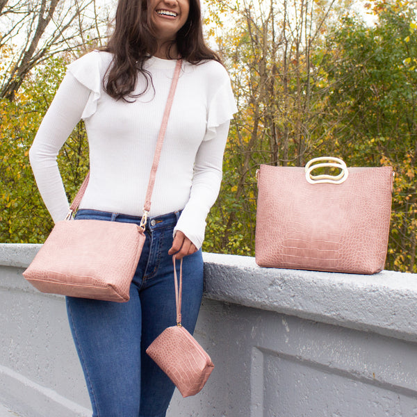 NEW! Michelle 3-in-1 Satchel, Crossbody & Wristlet (Multiple Colors)