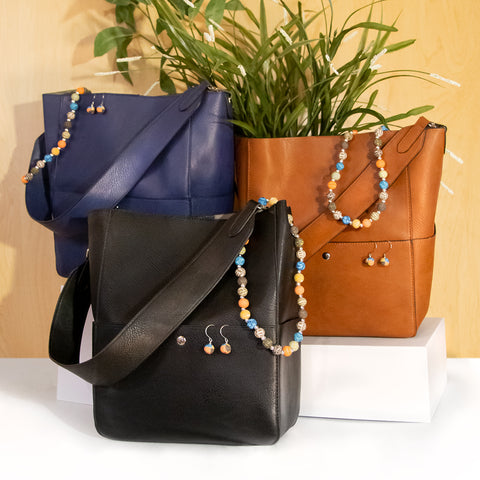 Tote & Jewelry Bundle (Ann Tote + JILZARAH Necklace/Earring Set) – WHILE SUPPLIES LAST!