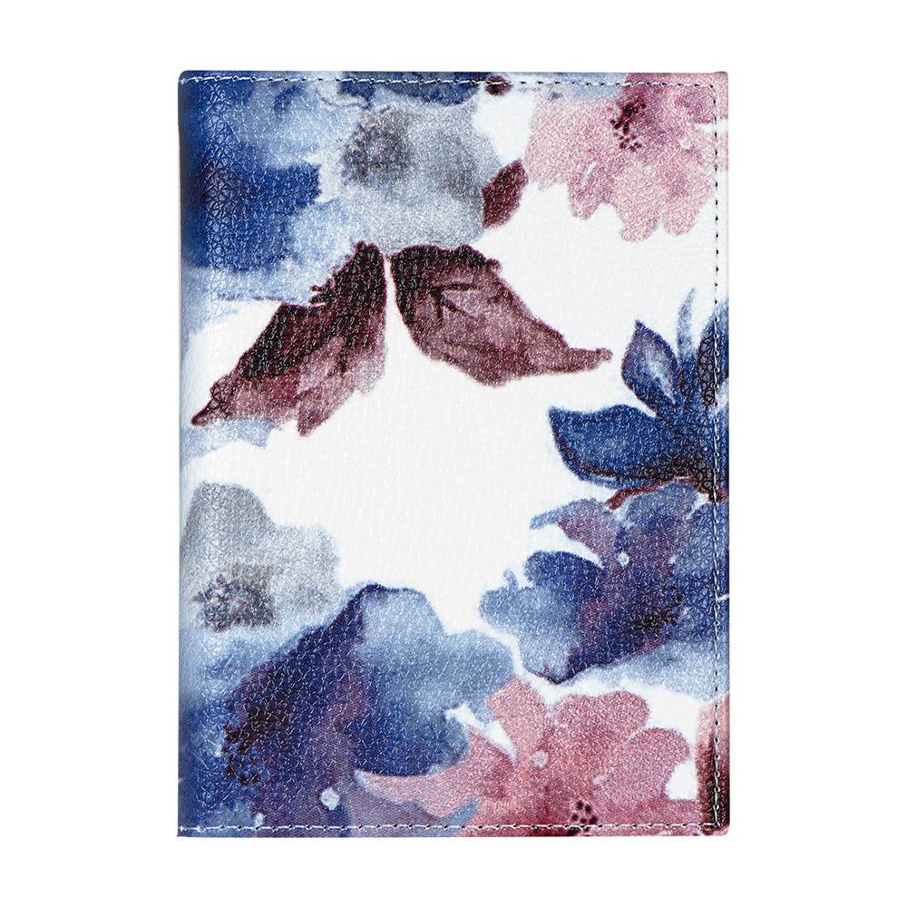 Passport Cover - Blue/Pink Floral