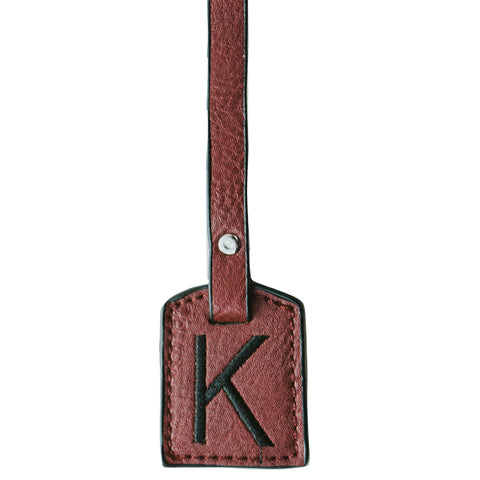 Monogram Tags (Red/Black)