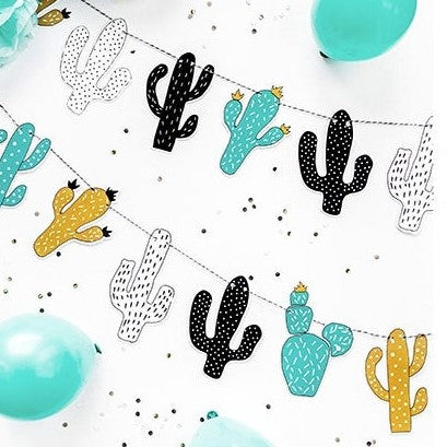 Cactus Party Bunting - HoorayDays