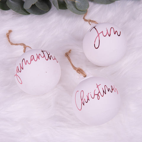 Custom Name Christmas Baubles - HoorayDays